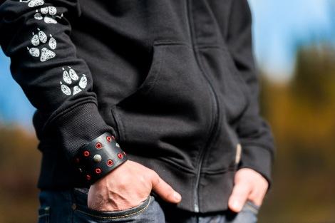Ekologiska kläder- Hoodie med tryck